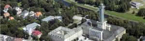 ostravská radnice - letecký pohled